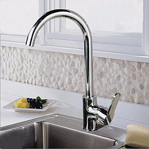 Waschtischarmatur Wasserhahn mit herausziehbarer Wasserhahn Kaltes Wasser Messing Kupferhahn für heißes und kaltes Wasser wie zum Beispiel ein starker Kaltwassermischer mit Einzelanschluss