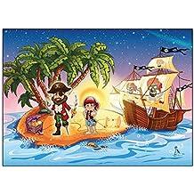 Set 12biglietti di invito mappa del tesoro pirata pirata Party compleanno bambini invito scheda (Pirata Mappa)