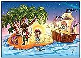 12 er Set Einladungskarten Pirat Schatzkarte Piratenparty Kindergeburtstag Einladung Piratenkarte - 12 Stück zum Piratengeburtstag mit Piratenschiff Party für Jungen und Mädchen