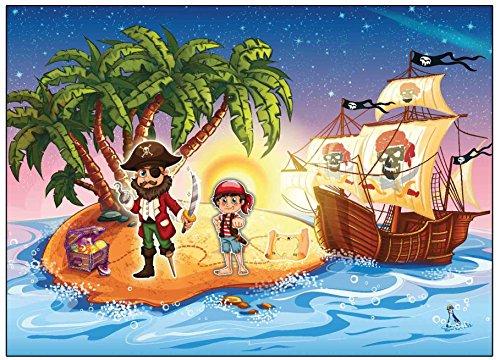 karten Pirat Schatzkarte Piratenparty Kindergeburtstag Einladung Piratenkarte - 12 Stück zum Piratengeburtstag mit Piratenschiff Party für Jungen und Mädchen (Schnitzeljagd Halloween)
