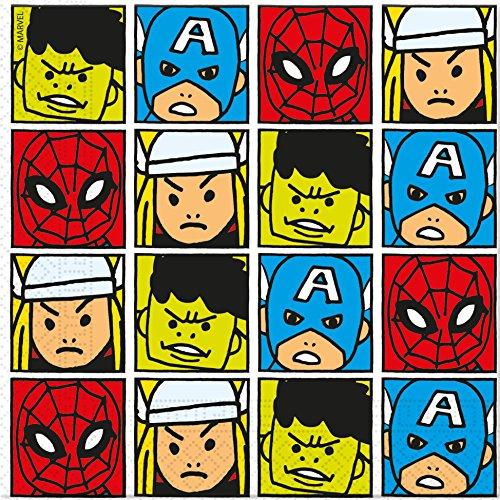20serviettes * * pour anniversaire d'enfant ou Devise Party//Nouveau 2018//Marvel Enfant Avengers équipe Power Fête d'anniversaire Thème Papier Serviettes Napkins