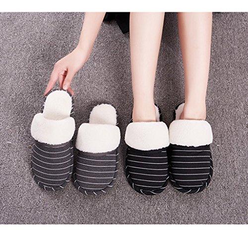 Dww Pattini Pantofole Pantofole Accoglienza Maschio Nere Strisce Inverno Slittamento Di In Cotone Dell'acqua Respirabili Coperta Calda Impermeabile SdZxEFZqw