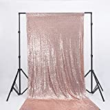 Zdada Karaoke Show Photos Wedding Sequin Backdrop Rose Gold 3ftx8ft Seamless