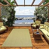Pergamon In & Outdoor Teppich Flachgewebe Carpetto Uni Grün Mix in 4 Größen
