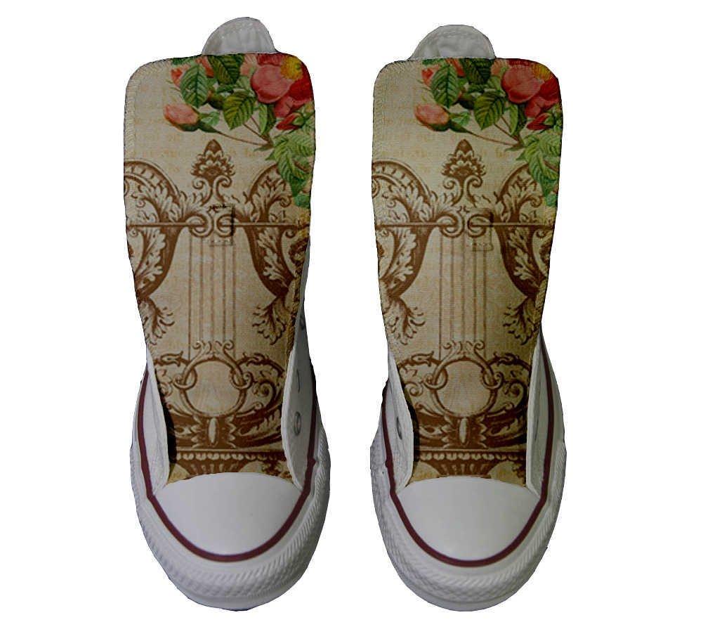 Converse Personalizados All Star Customized – Zapatos Personalizados (Producto Artesano) Floral Vintage