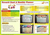 Kids Goods Best Deals - Reward Chart & Monthly Planner. Inculcate Good Habits & Motivate Kids.