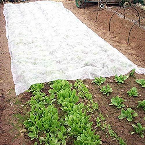 domdil-50g/m² 2x7.5m telo protettivo invernale per piante, cappuccio protezione vegetale, copertura utile per coltura, velo protezione perfetta dal gelo e vento