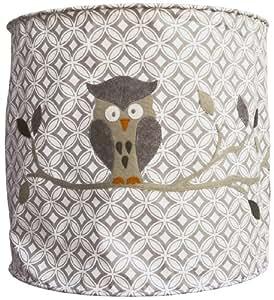 Taftan suspension lampion en tissu hibou gris gris b b s pu riculture - Plafond pour la prime de naissance ...
