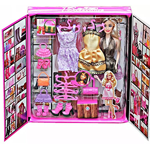 Grab Offers Girl's Fashion Stylish Doll with Many Dresses and Cool Accessories, Medium (Multicolour)
