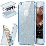 Coque iPhone 6S Plus,Etui iPhone 6 Plus 360 Degres Intégral Coque Avant Arrière Full Body Protection Bling...