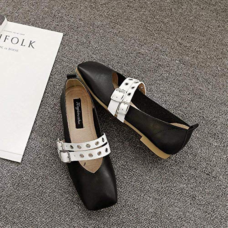 Escarpins carrés plats avec des des des chaussures simples femmes chaussures plates chaussures de sport creuses chaussures...B07K8CCTPLParent bfd64f
