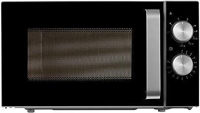 Medion MD 18041 Kompakt Mikrowelle (700 Watt Leistung, 20 Liter Kapazität, 6 Leistungsstufen, Auftaufunktion) silber