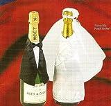 TIB Heyne PARTY DISCOUNT ® Flaschen-Deko Hochzeit, Anzug und Brautkleid, 2-tlg