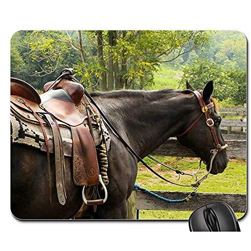 Spielmatte Pferd Westernsattel Pomel Horn Steigbügel Cantle Mauspads Spielmatte Mauspad Mousepad Mauspad 25X30cm