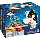 Felix So gut wie es aussieht Katzenfutter Doppelt lecker Fleisch Mix, 6er Pack (6 x 12 x 100 g) Beutel