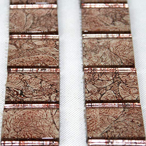 Bordüre Fliesenbordüre Glas 300x50x8 mm kupfer hell Mosaikfliesen Mosaikbordüre Bad WC #S45B - Kupfer-mosaik-glas