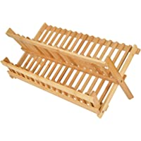 keyren Étagère de Rangement Pliable en Bambou Naturel, Support de Stockage d'étagère de Rangement, pour Meubles à la…