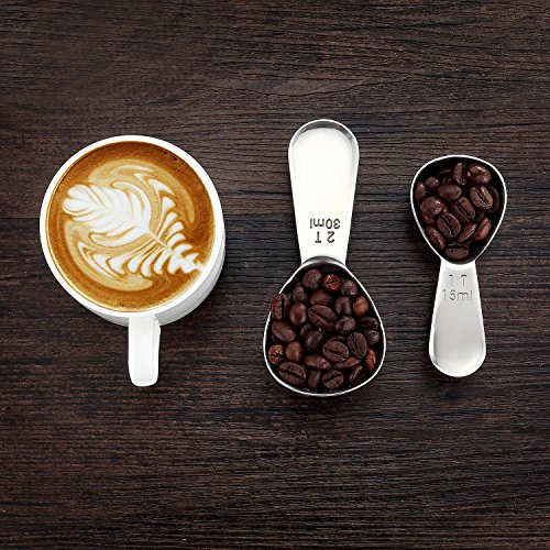 BasicForm Kaffeeportionierer Set, Edelstahl, einfach zu dosieren, präzises Abmessen, Maßeinheit: 1...