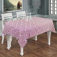 Copertura tovaglia di lino rettangolo 6 posti -100% tessuto di cotone geometrico tovaglia rettangolo granata -140 x 180 cm