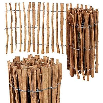 Staketenzaun Imprägniert Holzzaun Staketen Zaun H-60cm Abstand 7/8cm Länge 10m von A4Y - Du und dein Garten