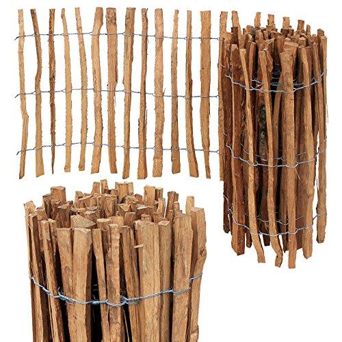 *Staketenzaun Imprägniert Holzzaun Staketen Zaun H-90cm Abstand 7/8cm Länge 10m*