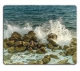 Luxlady caucho Natural Gaming Mousepads imagen abstracta de una tormenta en el mar Imagen ID 26378240