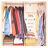 Snyter Hanging Vacuum Seal Storage Bag For Long Clothes To DE Cutter Your Wardrobe Space (2 Pcs Packing Of Size 105*70) With Free Manual Pump