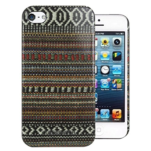 Heartly Aztec Tribal Art Printed Design Retro Color Armor Hard Bumper Back Case Cover For Apple iPhone SE / iPhone 5 5S 5G - Colorful Mehndi  available at amazon for Rs.199