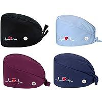 MARRYME-Set di 4 Cappelli Lungo in Cotone a Forma di Cuore Inverno Cuffia C-h-i-r-u-r-g-i-c-a M-e-d-i-c-o da Lavoro Uomo…