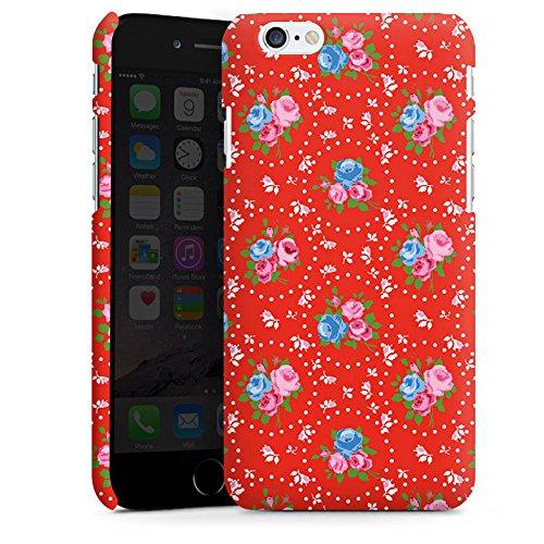 Apple iPhone 5 Housse étui coque protection Fleurs Fleurs Vieille école Cas Premium mat