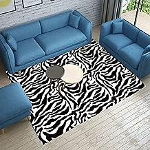 Alfombras de moda alfombras de patrón de cebra de moda alfombras personalizadas en blanco y negro alfombras de mesa de sala de estar manta de rastreo de los niños suave y cómoda fácil de limpiar ( Color : B , Size : 80x160cm )