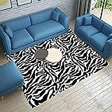 Tappeti moda tappeti alla moda zebrati tappeti personalizzati in bianco e nero tappeti per tappeti da salotto coperte per bambini morbidi e confortevoli facili da pulire ( Color : B , Size : 120x160cm )