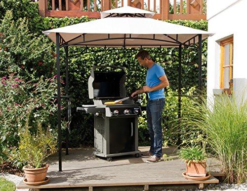Haberkorn-Garten edler Pavillon für Grill oder Terrasse Grillpavillon mit Abzug 240 x 150