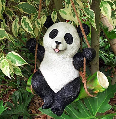 SD&EY Niedliche Harz-Simulation Koala Panda Dekor Tier Figur ALS Werft Garten Ornament,C