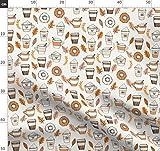 Kaffee, Herbst, Donuts, Kürbis Stoffe - Individuell