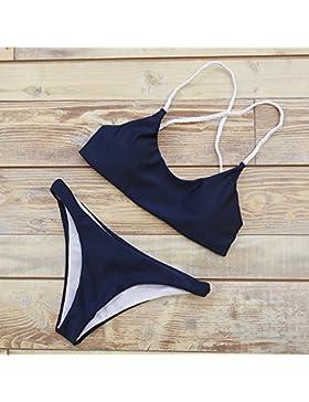 TIANLU Bikini Sexy conjuntos bañador de adelgazamiento trajes de baño sin anillo de acero, traje de baño, como...