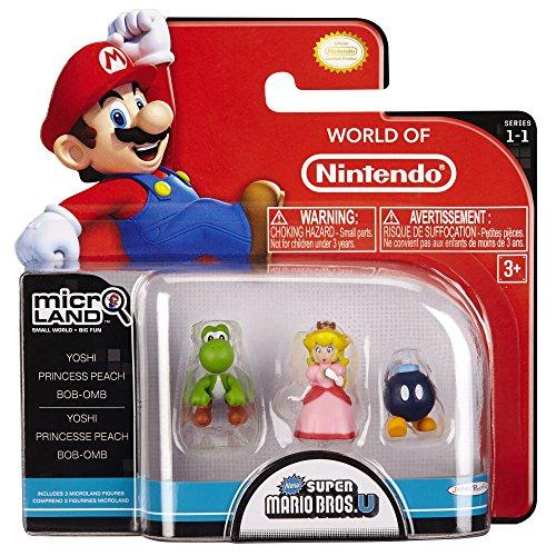Nintendo - Figure Bob-Om, Princess Peach, Yoshi, 2 cm