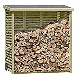 Gartenpirat Kaminholzregal mit Rückwand für ca. 2 m³ Holz