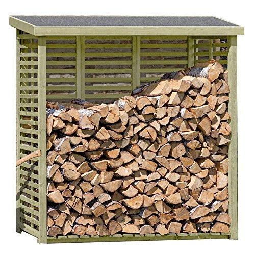 Kaminholzregal mit Rückwand für ca. 2 m³ Holz von Gartenpirat