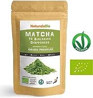 Thé Matcha Bio Japonais [ Premium Qualité ] 100 gr | Thé Vert Matcha en Poudre 100% Naturel | Matcha Green Tea Produit...