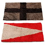 #10: Story@Home Door Mat Combo Set of 2 for Home, Bathroom, Bedroom, Office, Kitchen & Living Entrances - ECO Series Cotton Blend- 16