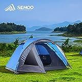 Semoo Tente de camping imperméable, 3-4 personnes, 4 saisons, 320 x 240 x 130 cm, tente avec moustiquaire et sac de transport