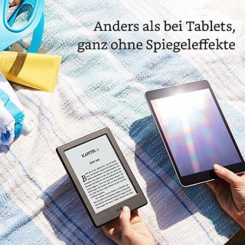 Kindle eReader, 15,2 cm (6 Zoll) Touchscreen ohne Spiegeleffekte, WLAN (Schwarz) - mit Spezialangeboten - 3
