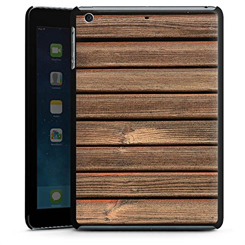 Holzlatten-rahmen (Apple iPad mini 3 Hülle Schutz Hard Case Cover Holz Look Holzlatten Planken)