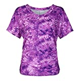 ZEELIY-T Shirt Damen Sommer 2019 Bluse Kurzarm T-Shirt mit Blumenprint Bequeme, lässige Oberteile