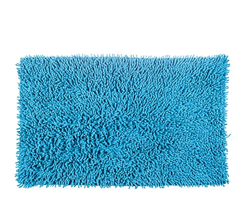 Alfombrista Gloria Alfombra, Algodón, Azul Caribe, 70 x 140 cm