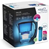 Aqua Optima Fridge Water Filter Jug for Reduction of microplastics, Chlorine, limescale and impurities, Blue, 2.8L