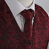 EGD1B05A-2XL rosso scuro nero modelli in microfibra dello smoking del vestito della maglia legame del collo Set fabbrica del regalo Dare di Epoint