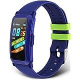 moreFit Fitnessarmband voor kinderen, fitnesstracker met bloeddruk, hartslagmeter, fitnesshorloge voor kinderen, activiteiten