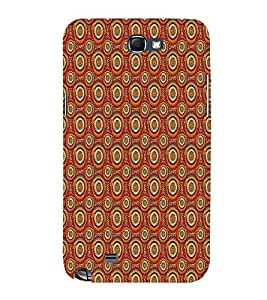 Circle Abstract 3D Hard Polycarbonate Designer Back Case Cover for Samsung Galaxy Note 2 :: Samsung Galaxy Note 2 N7100